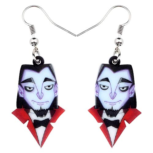 NOBRAND Pendientes De Mujer Pendientes De Caballero De Vampiro Acrílico Drop Dangle Jewelry