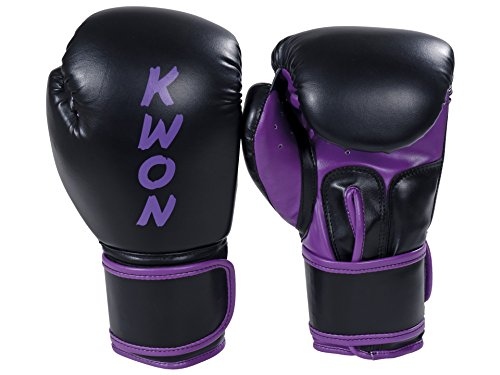 Boxhandschuhe Training 8 oz + 10 oz schwarz/violett
