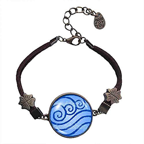 Handmade Fashion Jewelry Water Tribe Art Symbol Avatar the last Airbender Bracelet Pendant Charm Legend of Korra Cosplay