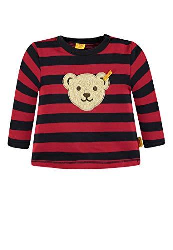 Steiff Steiff Baby-Jungen 1/1 Arm Sweatshirt, Mehrfarbig (Y/d Stripe|Multicolored 0001), 56
