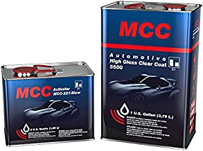 MCC 2K Clear Coat, Automotive Clear Coat, High Gloss Clear Coat 5500, 2:1, Easy Buffing, Long Durability and UV Resistance, Gallon Slow Kit, Chemical Resistant, Shine