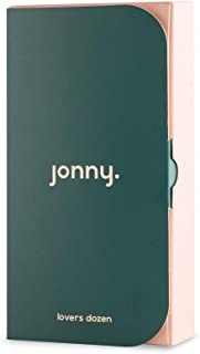 Jonny. Lover's Dozen Premium Natural Vegan Condoms - 13 Count Condom, Sensitive, Strong, Ultra Thin with Extra Comfort. Includes Biodegradable Bags for Discreet and Easy Disposal