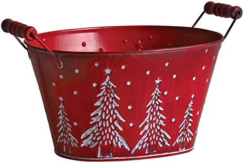 AUBRY GASPARD Corbeille en métal Sapin de Noël 23 cm