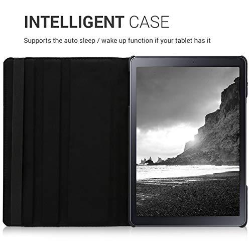 kwmobile Hülle kompatibel mit Samsung Galaxy Tab A 10.5-360° Tablet Schutzhülle Cover Case Schwarz