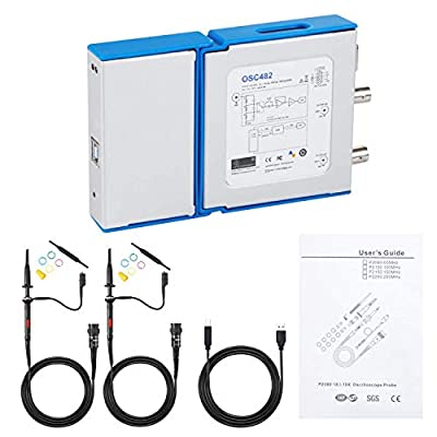 Loto USB Oscilloscope OSC482, Data Logger, Acquisition Card, 2 Channels, 50M S/s, 20MHz (Bandwidth), 8-13 bit Vertical Resolution, Optional Extension Modules