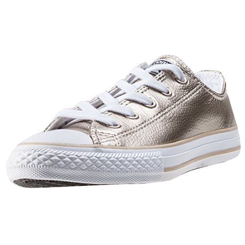 Converse Chuck Taylor All Star Metallic Junior Light Gold Leather 28.5 EU