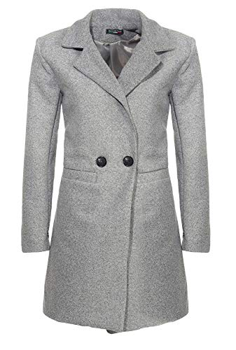 Malito Damen Kurzmantel | edle Jacke mit Knöpfen | schicke Übergangjacke | Jacke mit Taschen 19691 (hellgrau, S)