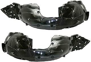 Partomotive For 16-19 Civic Coupe & Sedan Front Splash Shield Inner Fender Liner SET PAIR
