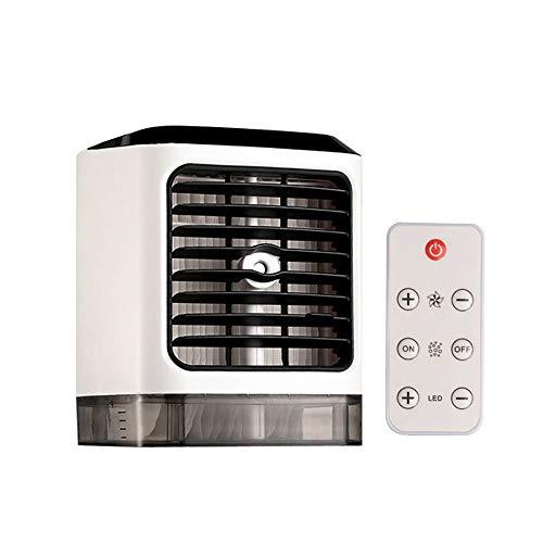 YYXXL Tragbarer Klimageräte, Mini 3-in-1 Personal Klimaanlagen-Ventilator, 3 Geschwindigkeitsstufen, mit Fernbedienung und LED-Anzeige, for Büro-Schreibtisch, Dorm, Schlafzimmer und Outdoor