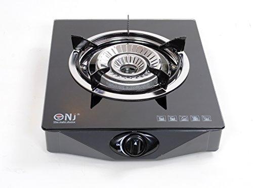 NJ NGB-S1 Piano Cottura a Gas, con 1 Bruciatori 4.2kW , Vetro Temperato Superficie, Fornello A Gas GPL Per Uso In Interni