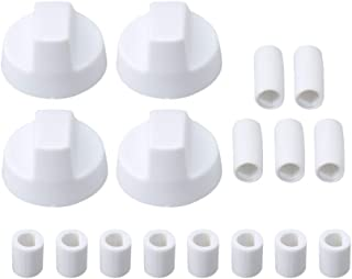 BQLZR White Generic Design Stove/Oven Control Knob with 12 Adapters Pack of 4