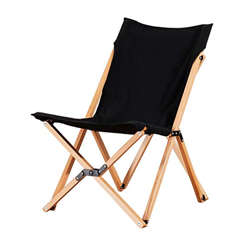Lw outdoor opklapbare campingstoel Lounger, vlinderstoel massief houten klapstoel voor vrije tijd balkon kantoor één zesta beweegbaar buiten strandstoel