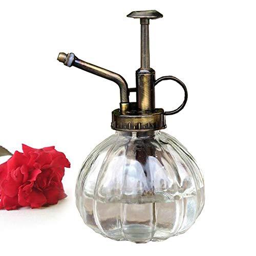 bemodst® 1PC Colored Stripes Vintage Maceta decorativa de cristal Regadera pulverizador a presión para plantas bonsai Flores Herramientas de Jardinería, blanco