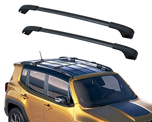 OCPTY Roof Rack Roof Side Rails Silver Cargo Carrier Top Side Rails Fit for 2014-2016 Nissan Rogue Sport Utility 4-Door Roof Side Rails