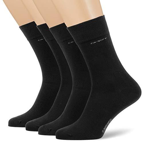 Camano Herren 3642000 Socken, Schwarz (Black 0005), (Herstellergröße: 39/42) (4er Pack)