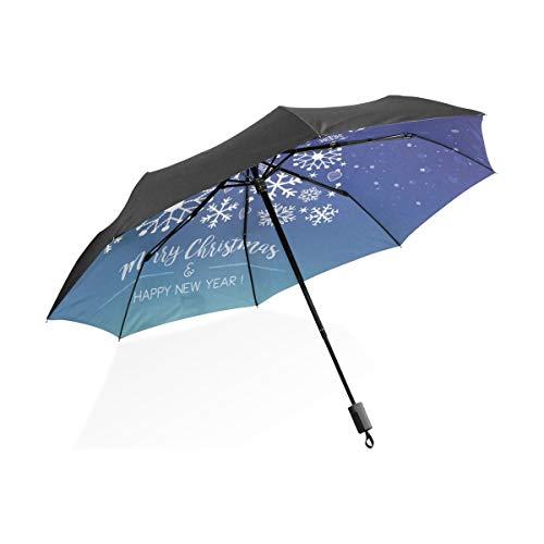 Umbrella Totes Eleganter Weihnachtsbaum Symbol Symbol Tragbarer kompakter Taschenschirm Anti UV Schutz Winddicht Outdoor Reisen Frauen Riesiger Outdoor Regenschirm