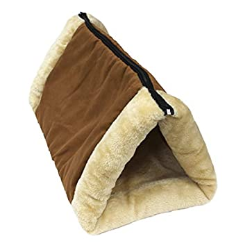 Pets First Cat Warming Bed and Tunnel 2 in 1 - Luxury Sleep and Resting Spot for Pets - Heated Bed to Keep Cat Warm
