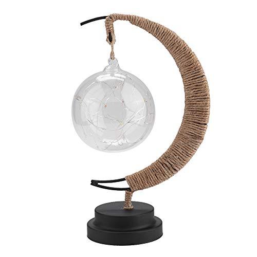 Socobeta Bola de luz de Noche, luz de Noche de Luna, lámpara de Noche, luz cálida, Forma única para Dormitorio para habitación de bebé