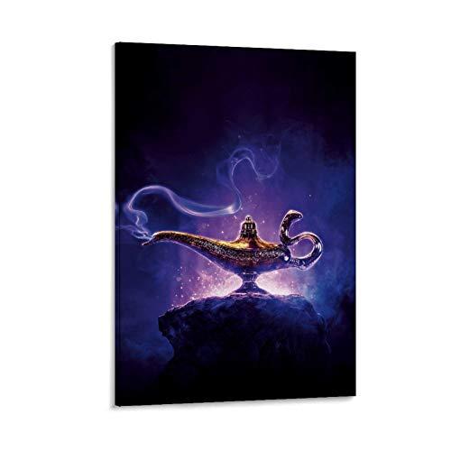 YANXIAO Póster de la película de la lámpara mágica Alapin Póster decorativo de la pared del arte de la pared de la sala de estar carteles del dormitorio pintura 40 x 60 cm