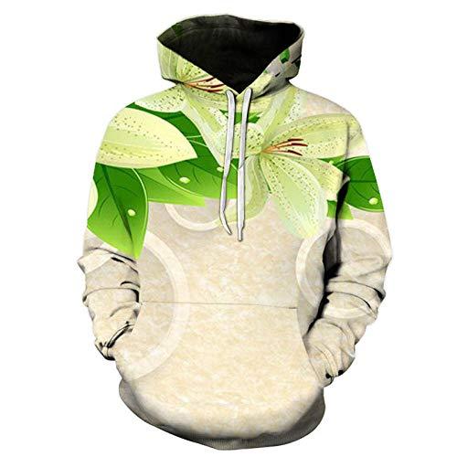 Green Pear Flower Kapuzenpullover Unisex Realistic 3D Fashion Pullover Hoodie...
