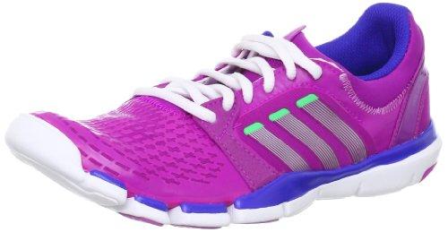 adidas adipure TR 360 W Q20514, Damen Hallenschuhe, Pink (Vivid Pink S13 / Metallic Silver / Green Zest S13), EU 41 1/3 (UK 7.5)