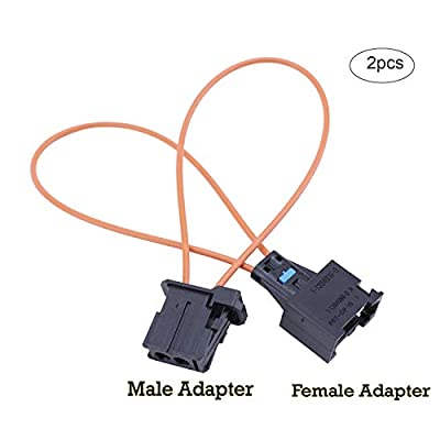 Velidy 2 PCS Fiber Most Optical Optic Loop Bypass Male Female Adapter for Benz Audi Mercedes BMW VW Porsche