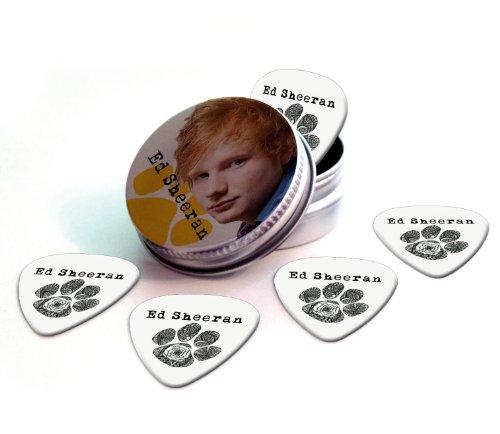 Ed Sheeran Set of 5 Logo Guitar Púa Para Guitarra in Tin