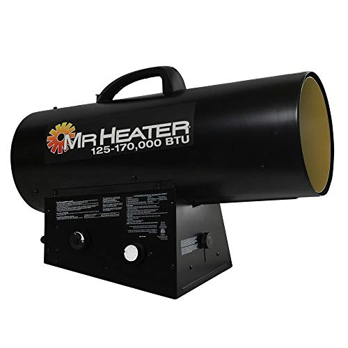 Mr. Heater F271400 MH170QFAVT Forced Air Propane Heater,Black,Medium