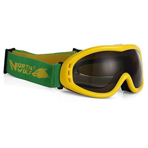 Skibrille Skibrille - TPU/PC, einlagiger Antibeschlag, Verstellbarer Kopfbügel, großes Sichtfeld, Jugendski- und Bergsportbrille (4 Farben erhältlich)