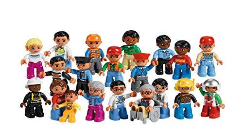 LEGO DUPLO Leute&Berufe Set 'NEU' 5010 - 21 Elemente für 1 - 6 Spieler von 2 - 5 Jahren! Set mit 20 detaillierte ausgestattete Figuren.