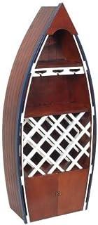 Art Deco Mueble Botellero Barco Madera Marron 137 cm