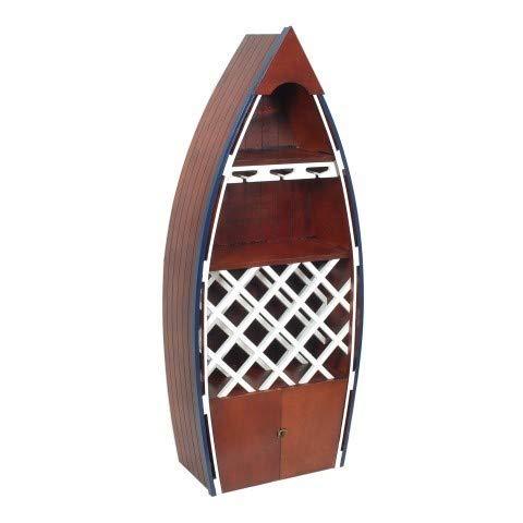ARTDECO Weinregal Boot, Holz, braun, 137 cm