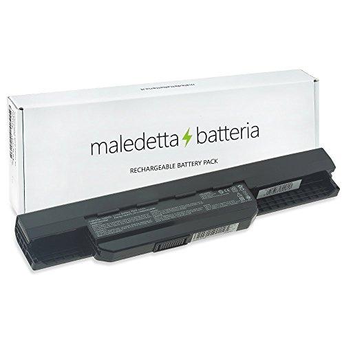 Batteria MaledettaBatteria 4400mAh 10,8V per portatile Asus A43 A45 A53 A54 A83 A84 K43 K53 K54 K84 X43 X44 X54 X54C X54H X54HR X54HY X54L X54LY X54X X54XB X54XI X84 A31-K53 A32-K53 A41-K53 A42-K53