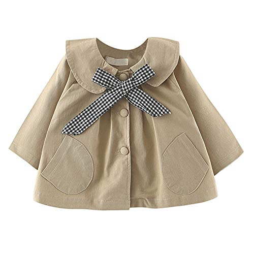 De feuilles Baby Mädchen Jacke Mantel Trenchcoat Revers Sweatjacke Prinzessin Windbreaker mit Gürtel Kinderjacken Parka Kleidung Outerwear Frühling Herbst