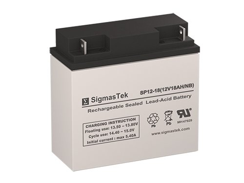Battery Replacement Compatible with AJC D18S (High-Rate Version) - 12 Volt 18 Amp Hour SLA Rechargeable Battery