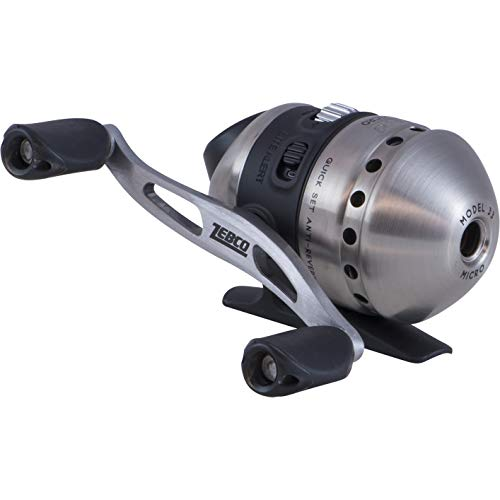Zebco 33 Micro Spincast Fishing Reel, Quickset Anti-Reverse with Bite Alert, Smooth Dial-Adjustable