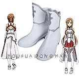 LJYNB Sword Art Online Yuuki Asuna Cosplay zapatos mujer Asuna Yukijuego de roles botas blancas de gran tamaño 39 Yuuki Asuna