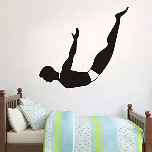 Tianpengyuanshuai muursticker van vinyl, voor duiken, waterdicht, afneembaar, silhouet, muurstickers voor dames