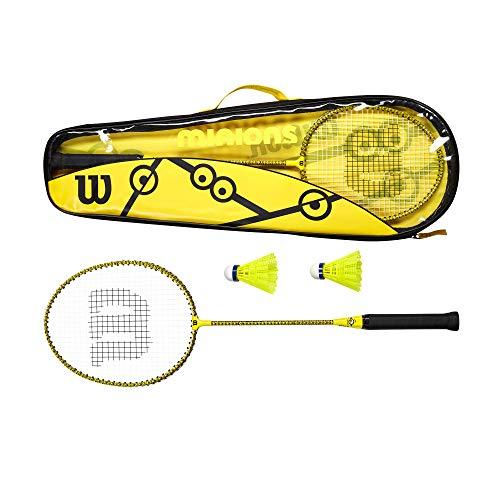 Wilson Minions Set de Badminton, 2 Raquettes, 2...