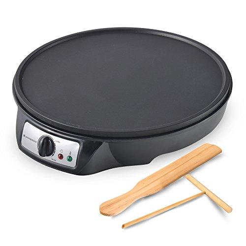 Wonderchef 63152431 Electric Dosa, Crepe, Pizza, Pancake, Roti Maker with Temperature Control, Plastic, 910 W, Black