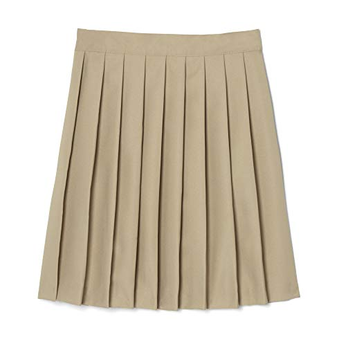 French Toast  Girls' Pleated Skirt, Khaki, 16,Big Girls