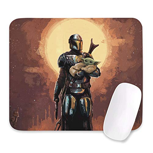 The Child Baby Mouse Pad Non-Slip Mando Gaming Mouse Pad 10.5 X 12.5 inch