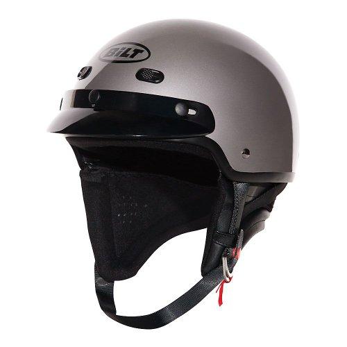 CUSTOM BILT Falcon Motorcycle Half Helmet - XL, Pearl Gray