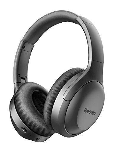 Active Noise Cancelling Headphones, Wireless Headphones Bluetooth Headphones with Mic, BesDio Over Ear...