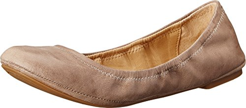 Lucky Brand Women's Emmie Ballet Flat, Grout Leather, 8 M US