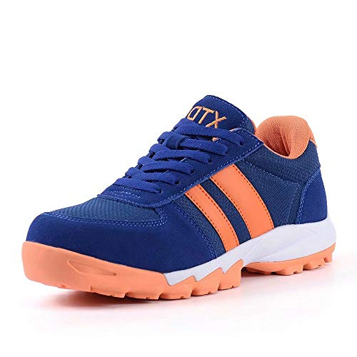 DDTX Zapatos de Seguridad con Punta de Acero Anti Perforación S1P SRC Zapatos de Trabajo Anti Estáticos Transpirables Azules Talla 35