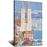 ASFGH Zürich, Schweiz, Vintage-Reiseposter, Dekor,