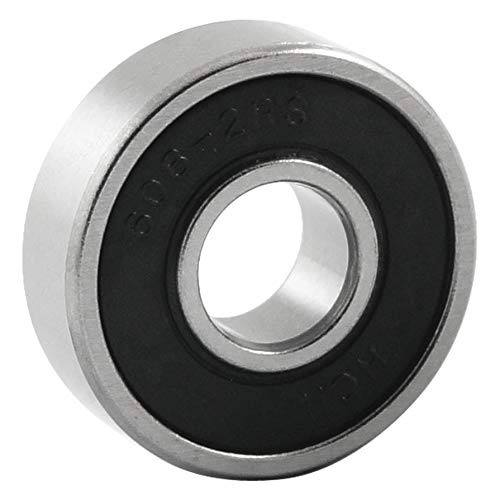 Insmart Rodamiento de Bolas de Ranura Profunda Sellado de Goma 608-2RS Negro 8 mm x 22 mm x 7 mm