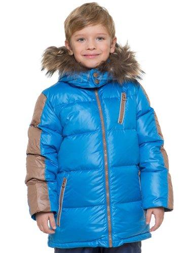 Grimada Snowmada Winterjas voor kinderen, donsjas met echte bontcapuchon