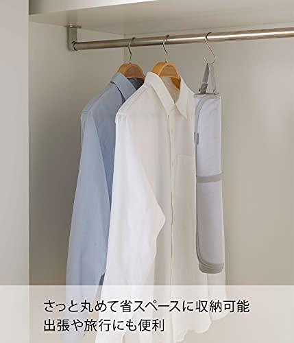 山崎実業(Yamazaki)くるくるあて布付きアイロンマットアルミ約W72XD48XHcmアルミコーティング加工コンパクト収納お手軽にアイロン掛け4029
